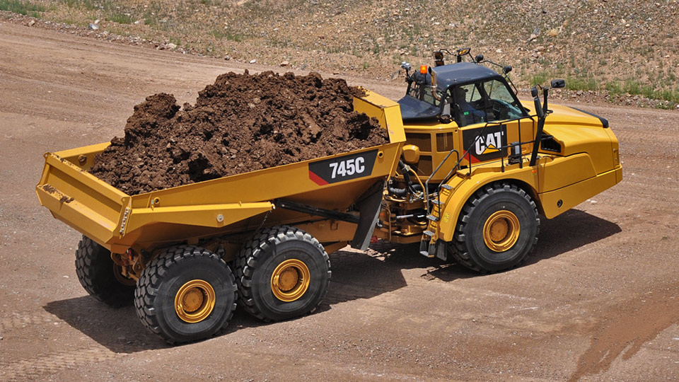 Cat 745C Articulated Trerm loaded.555b70d8425bc r