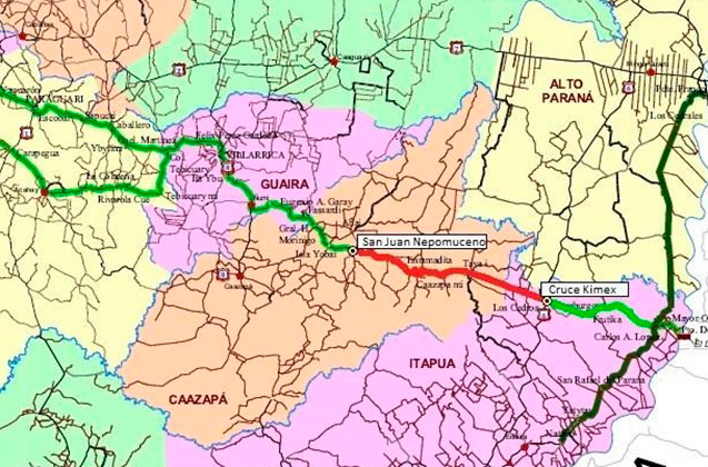 mapa tramo san juan nepomoceno ruta 6 h