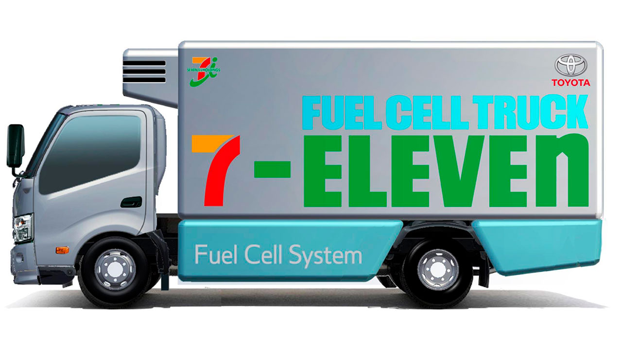 toyota fuel cell delivery truck r