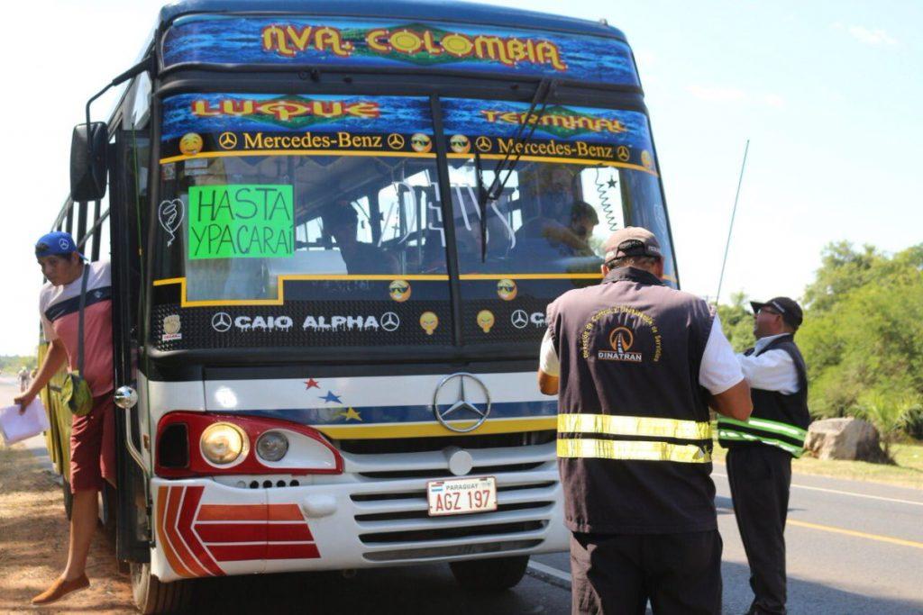 Dinatran recuerda inscribirse al sistema online y agilizar trámites de empresas de transporte para Caacupé
