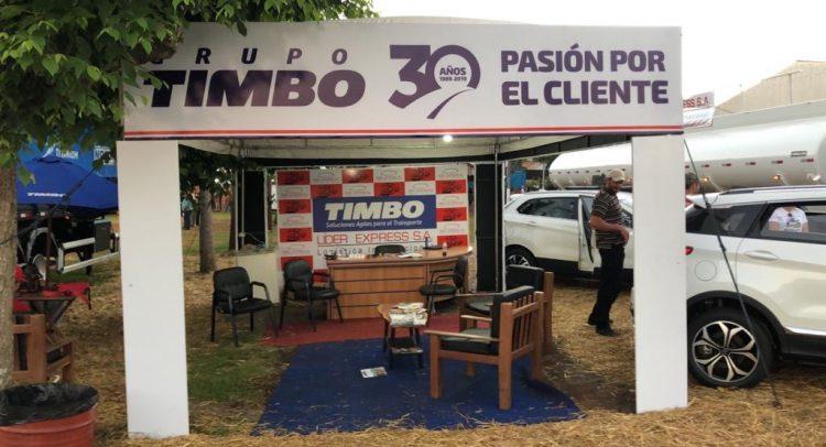 Grupo Timbo y Lider Express presentaron sus equipos en la feria Agrodinámica