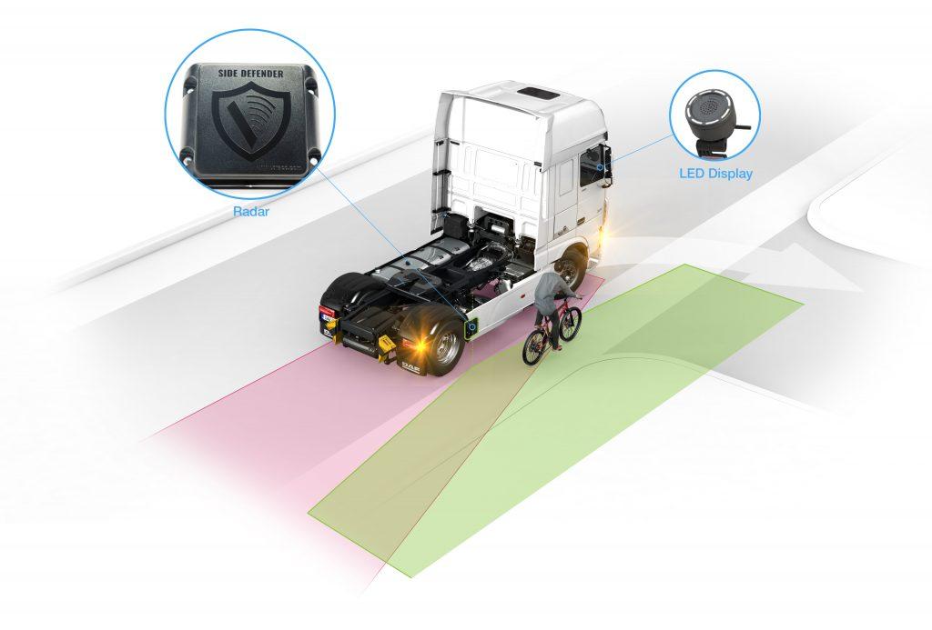 DAF incorpora detector de movimientos para el ángulo muerto del conductor