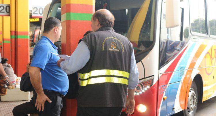 Dinatran libera horarios de buses desde el mediodía