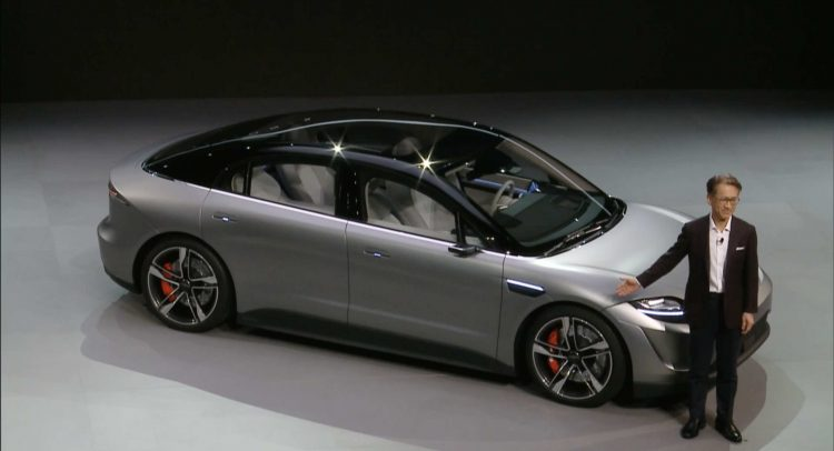 Sony sorprendió y reveló su prototipo de vehículo eléctrico
