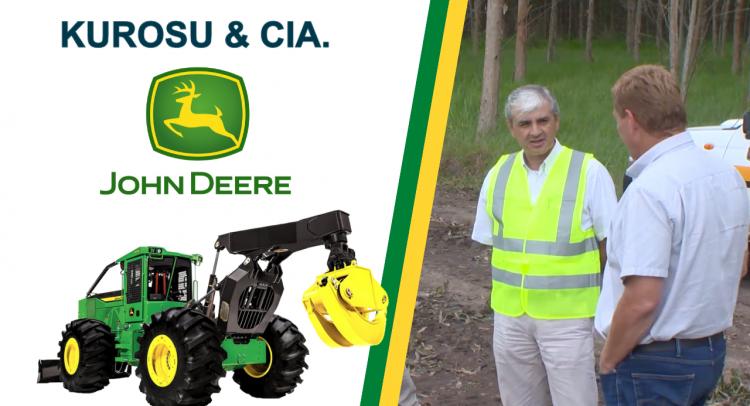 Primera máquina forestal giratoria John Deere ya opera en Caazapá