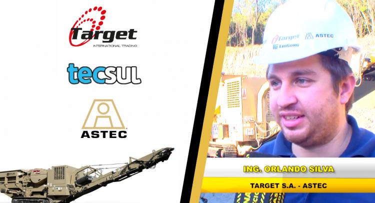 Target S.A entregó una máquina primaria sobre oruga ASTEC a Tecsul SAE