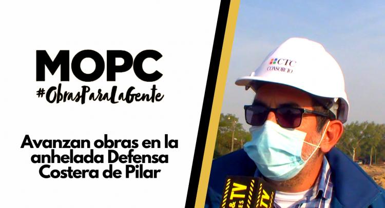 Avanzan obras en la anhelada Defensa Costera de Pilar