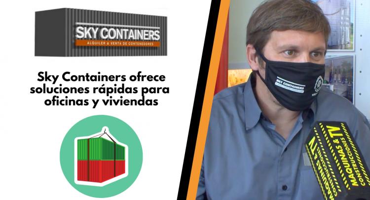 Sky Containers ofrece soluciones rápidas para oficinas y viviendas