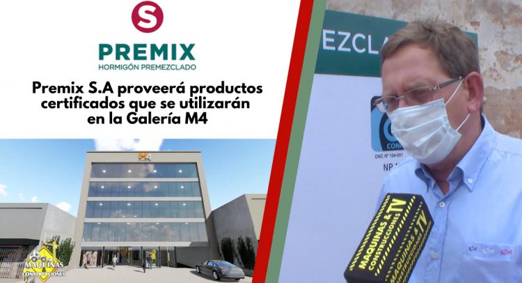 Premix S.A proveerá productos certificados que se utilizarán en la Galería M4