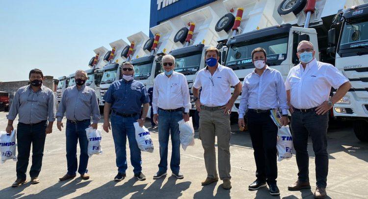 Construpar S.A adquirió ocho camiones Sinotruck del Grupo Timbo