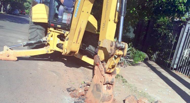 Trabajos para mejorar servicio de agua potable en barrio de Asunción