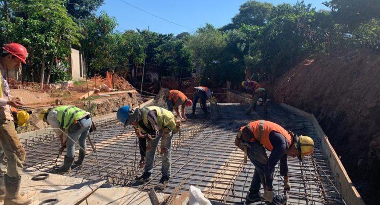 Segunda etapa del mejoramiento del Arroyo Sosa en Lambaré tiene 25,2% de avance