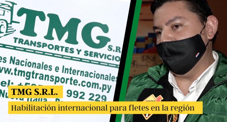 TMG cuenta con habilitación internacional para realizar fletes a varios países de la región