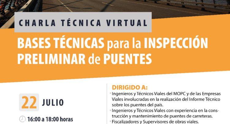 APC organiza charla sobre bases técnicas para inspección de puentes