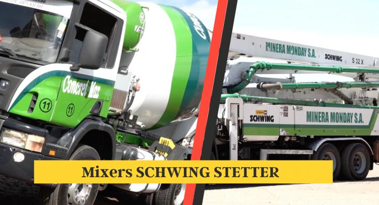 H. Petersen proveyó tres mixers Schwing Stetter a Minera Monday SA